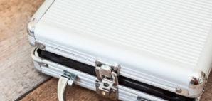 aluminum suitcase © Antikainen   Dreamstime