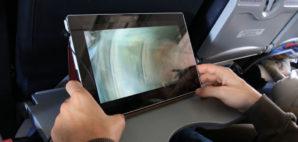 iPad on plane