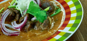 Iguana meat in a Mexican dish