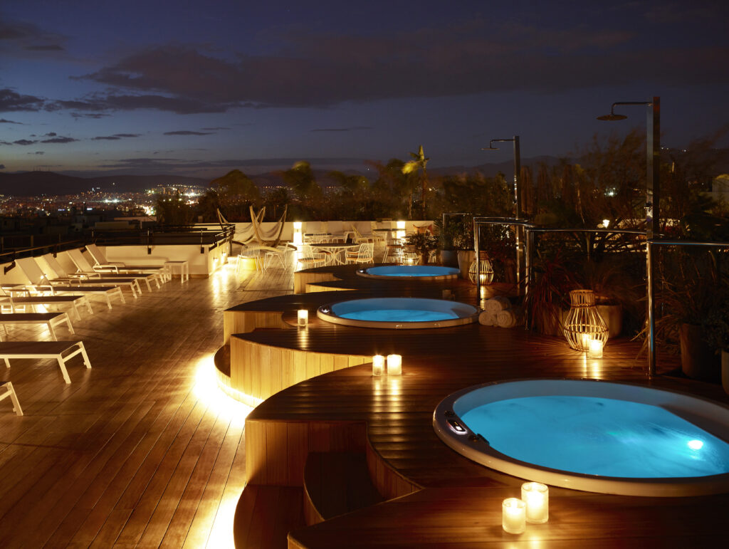 Roof top hot tubs Greece